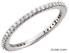 image of simple inline diamond band