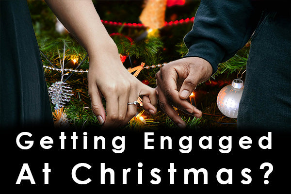 title image about getting engaged at christmas