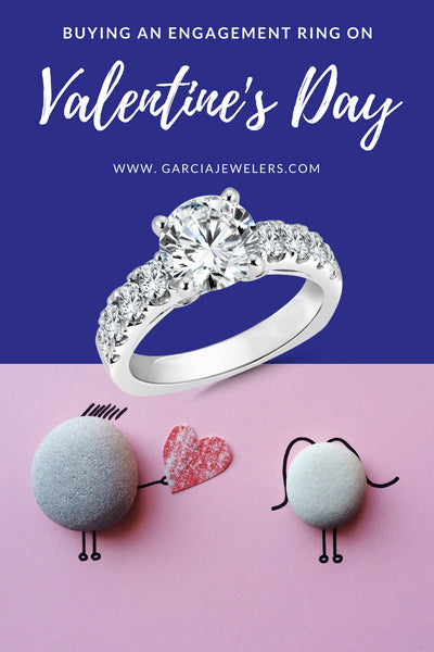 image of engagement rings for Valentine's Day