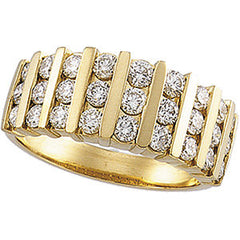 image of wide gold diamond band