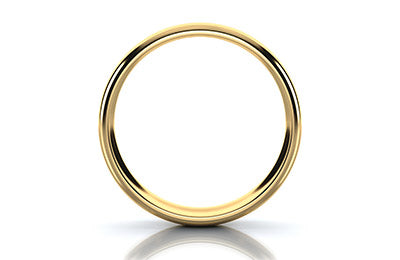 image of simple gold wedding band