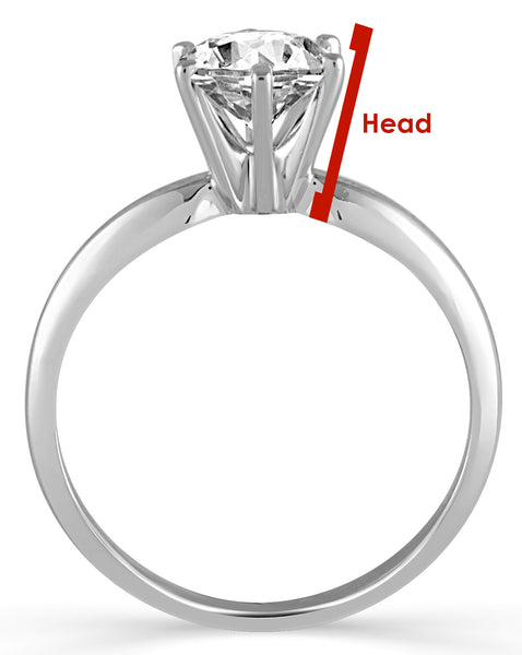 image of engagement ring head