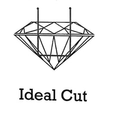 diagram of light performance in an ideal cut diamond