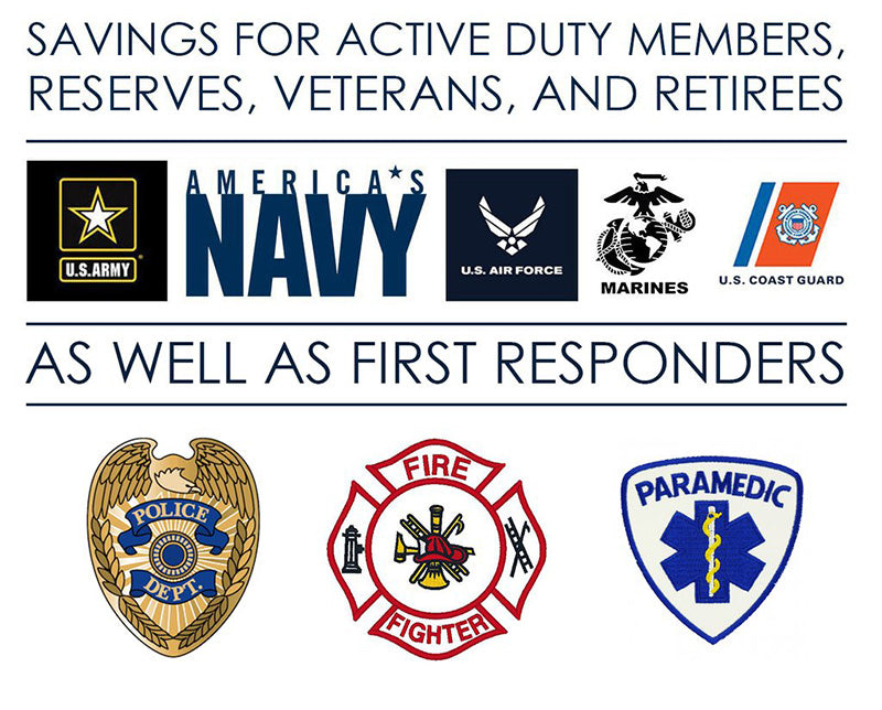 image of military and first responder discount on jewelry purchases