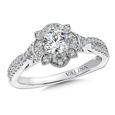image of engagement ring with halo