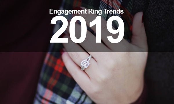 title image for engagement ring trends 2019