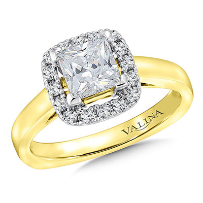 image of two tone engagement ring