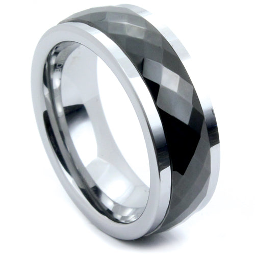 Tungsten Ring w/ Black Prism Spinner
