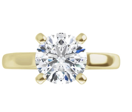Garcia Classic Diamond Yellow Gold Solitaire