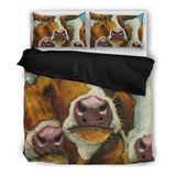 Cow Art 3 Cows Bedding Set