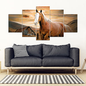 Horse Art 5 Pieces Canvas