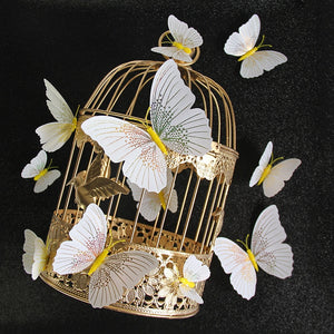 12Pcs/set 3D Butterfly Magnet Decoration