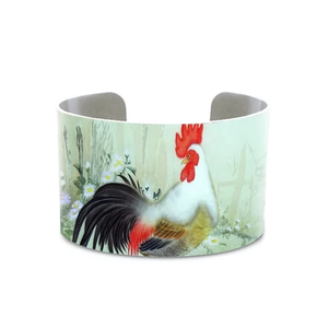 Chinese Chicken Painting Cuff