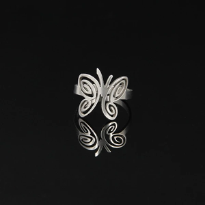 Stainless Steel Butterfly Ring