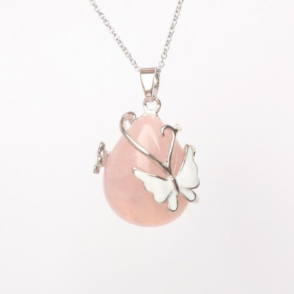 Water Drop Butterfly Necklace