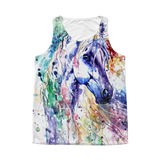 All Over Print Tank Horse Art