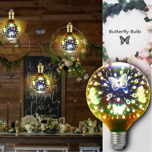 Decoration Xmas 3D LED Butterfly Bulbs