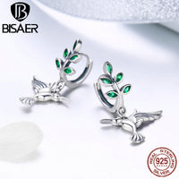 New Hummingbird & Leaves Earrings for Women