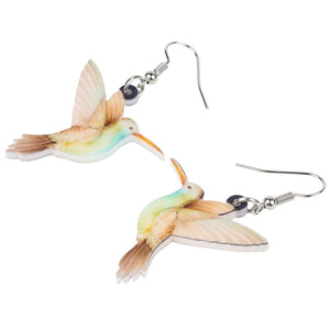 Acrylic Hummingbird Earrings