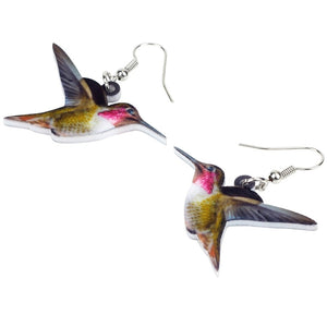 New Flying Hummingbird Bird Earrings For Women