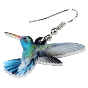 New Voilet Sabrewing Hummingbird Earrings For Women