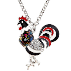 New Floral Chicken-Rooster Necklace