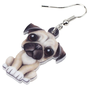 New 3D French Bull  Dog Earrings For Girls Women Lady Accessories