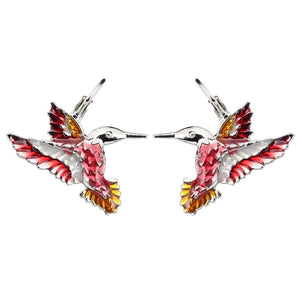 New Floral Hummingbird Stud Earrings