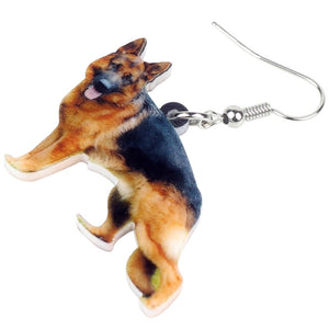 New German Shepherd Dog Earrings For Women