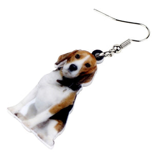 Sitting Beagle Dog Earrings For Women Girls Accessories