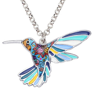 New Hummingbird Bird Necklace Pendant Chain For Gift Accessories