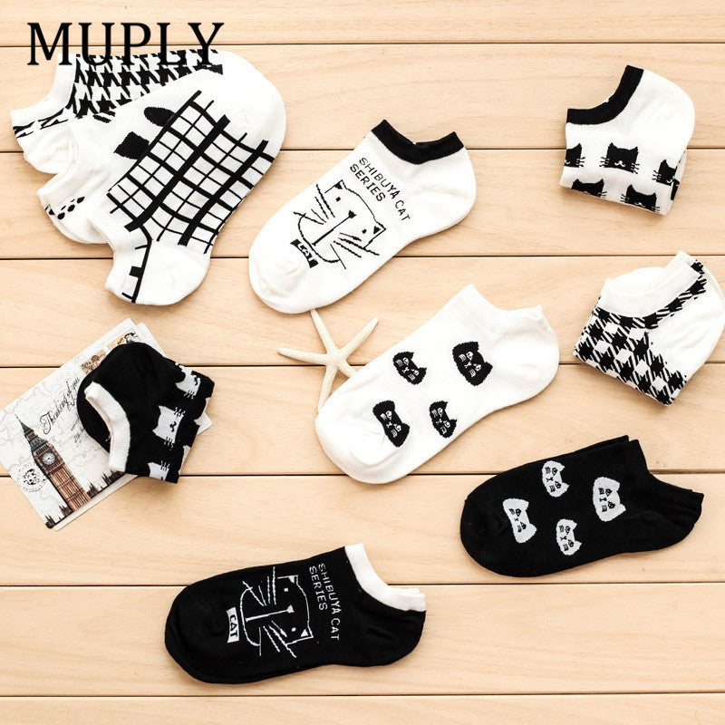 New CAT Summer comfortable cotton bamboo fiber women's socks