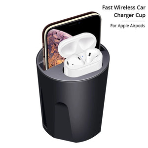New Car Wireless Charger Cup 3 in 1 For IPhone and Airpods