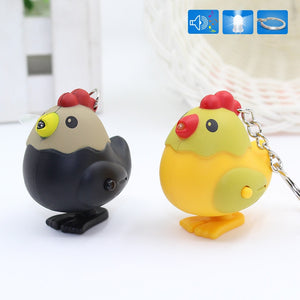 The hen Chicken - Cute LED Keychain with Sound Light Flashlight The hen Chicken