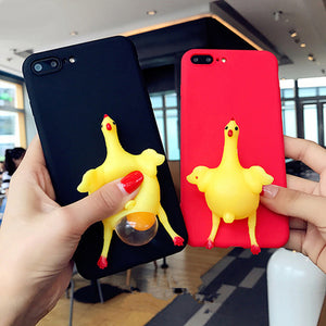 Cute Case For iPhone - Chicken Lay Egg Frosted