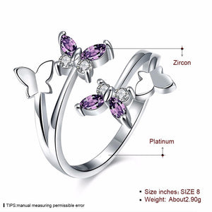New Adjustable Trendy Butterfly Rings