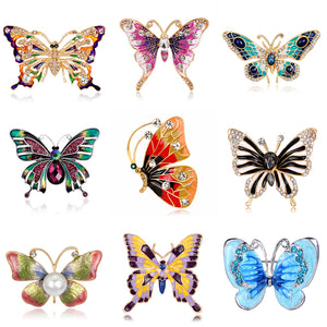 Fashion Crystal Butterfly Brooch For Women Accessories