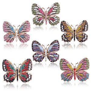 Rhinestone Butterfly Brooches