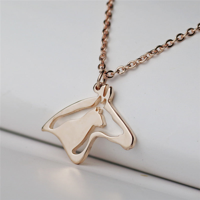 New Arrival Horse, Dog & Cat Head Necklace