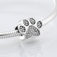 Crystal Dog Paw Charms Pandora