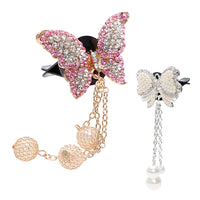New Air Freshener Butterfly Artificial Crystal Car Decoration