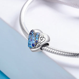 Crystal Blue Butterfly Charms Pandora