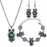 Ancient Owl Jewelry Set for Women