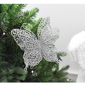 6Pcs Butterfly Christmas Decorations