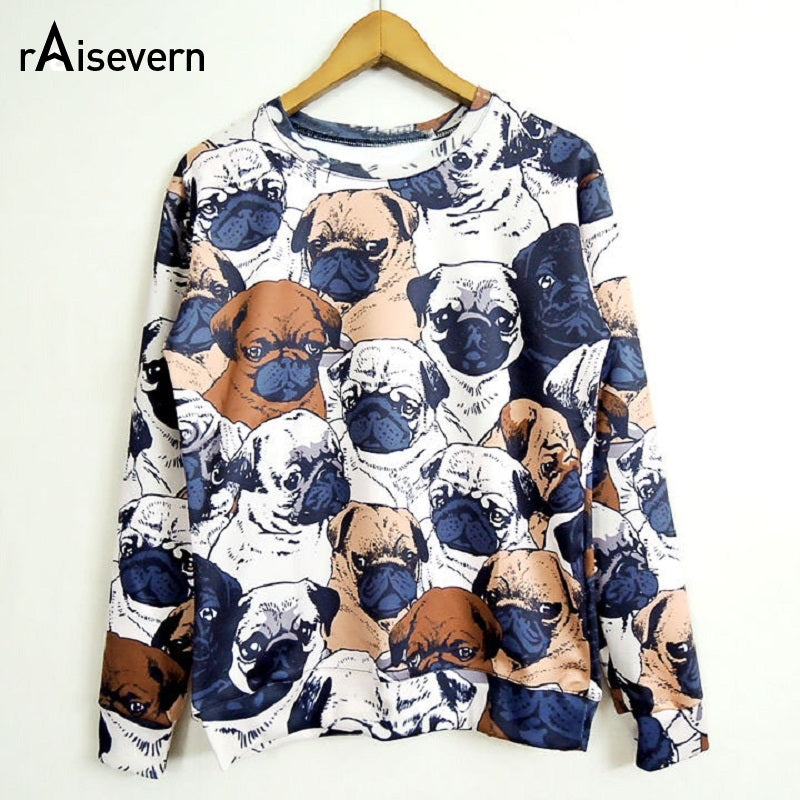 Newl Pug Full Print Women Men Sweatshirt