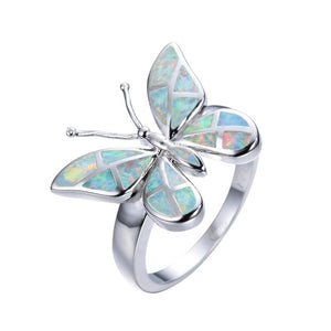 Vintage Rainbow Butterfly Ring