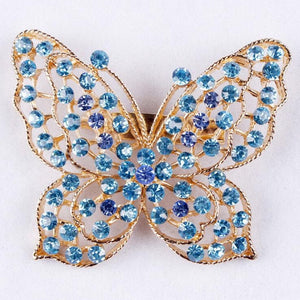 Clear Crystal Rhinestones Butterfly Brooches