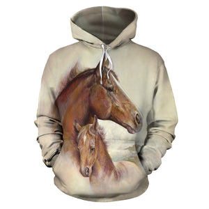 All over Horse Hoodie