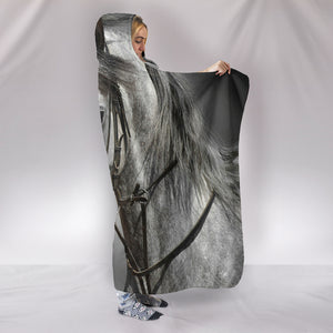 HOODED BLANKET - LOVE HORSE