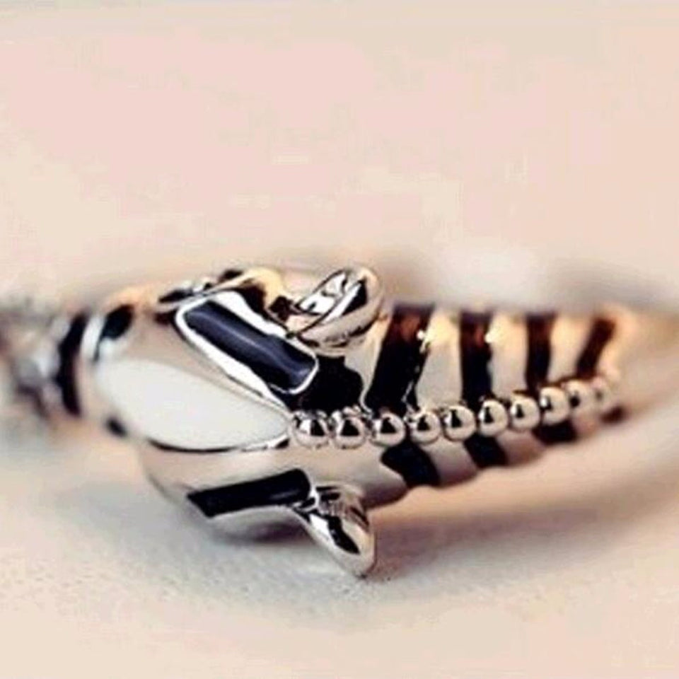 Zebra Horse Head Adjustable Index Finger Opening Ring